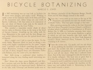 Marcus E. Jones Bicycle Botanizing