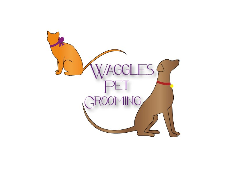 Waggles Pet Grooming Logos - Catt Wright