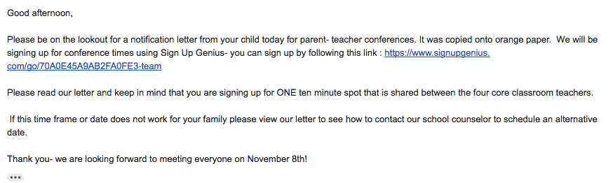 parentteacher conferences