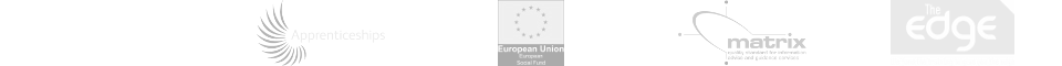 Skills Funding Agency, Apprenticeships, European Social Fund, Matrix Accredited, Investors in people