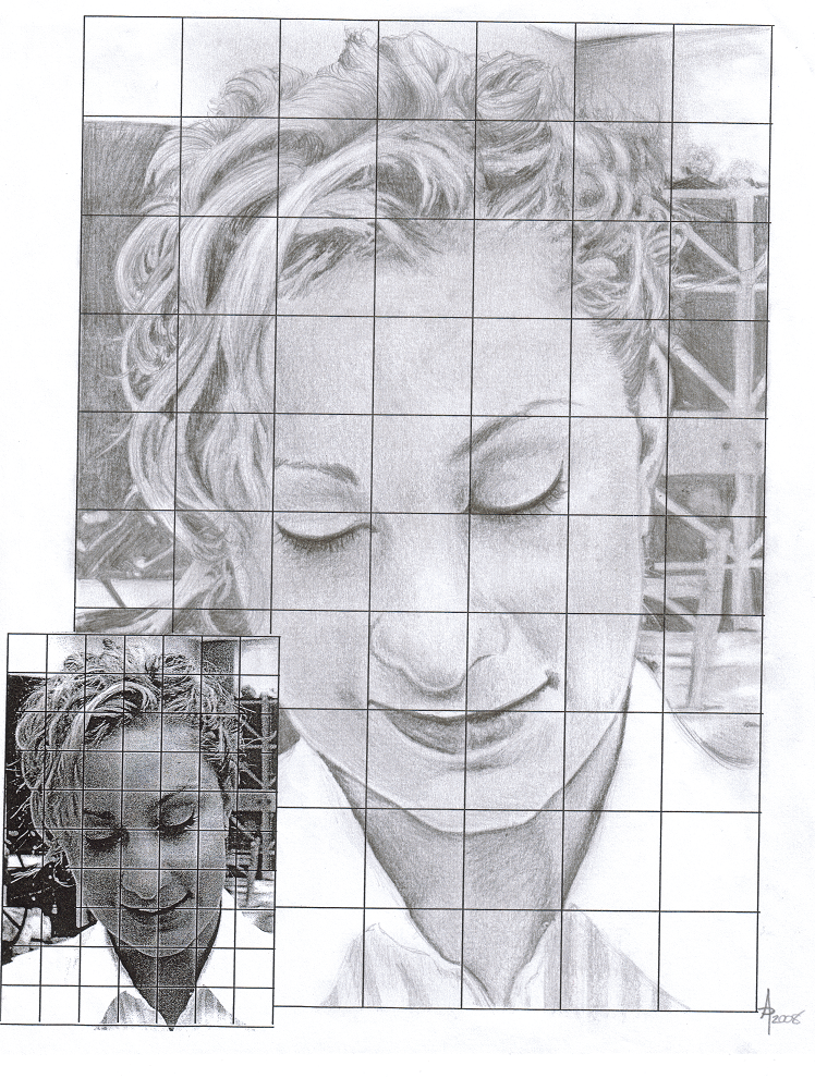 Grid Pencil Drawing Portraits - Middle School Art ~ Ms. DePuma