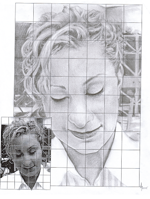 grid pencil drawing portraits middle school art ms depuma