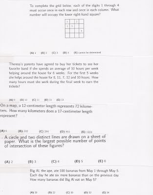 AMC 8 practice problem set 1 - Saint Ann's Math Team