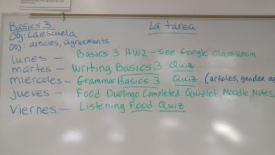 Homework Assignments Mr Martinez Spanish 1 Alms