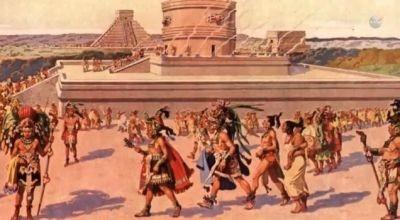 mayan society pyramid