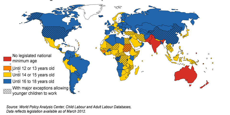 Stadistics of child work in the world   Global Hot Spots