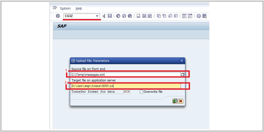 Upload files to SAP system using transaction CG3Z - SAP BASIS Tuts