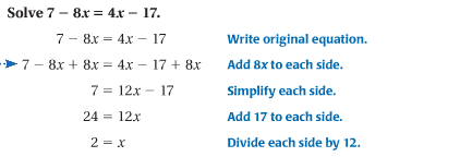 3.4 Solve Equations with Variables on Both Sides - Match Club Help ...