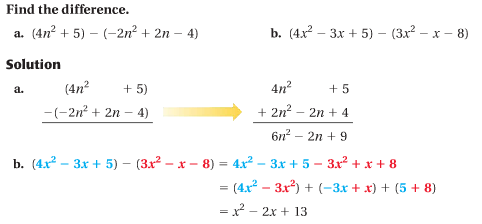 9.1 Add and Subtract Polynomials
