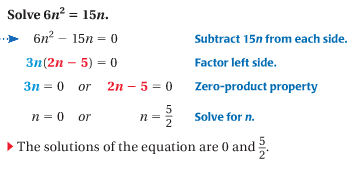 9.4 Solve Polynomial Equations Factored Form - Math Club