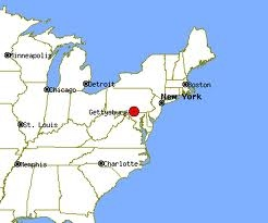 this is a pinpoint of gettysburg this is one battle at gettysburg