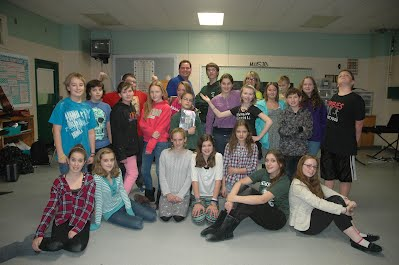 The cast and crew of Into The Woods Jr. December 2014