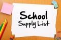 School Supply Lists 2016-2017