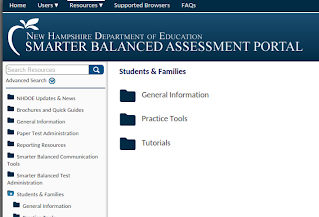 NH DoE Smarter Balanced Assessment Portal