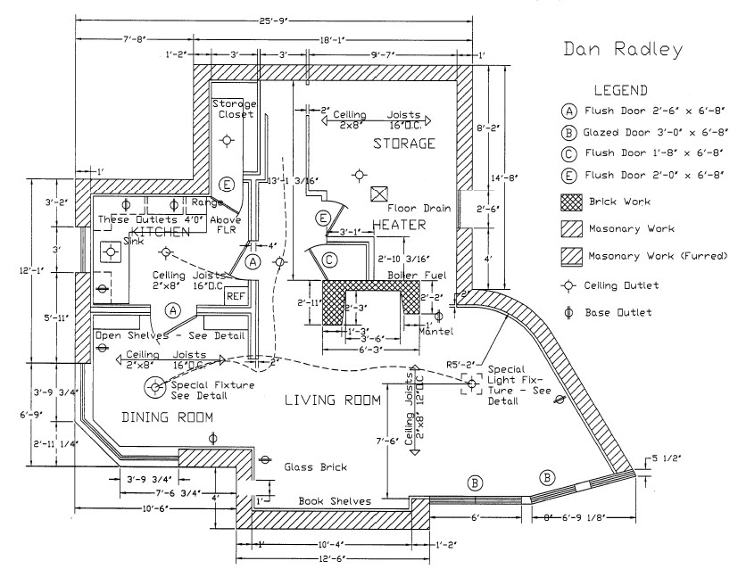 Beautiful Above is a floor plan done by Honors AutoCAD senior Dan Radley