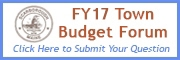 Submit a Question for the FY17 Budget Workshop