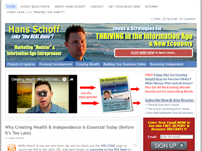 Hans Schoff - Creating Wealth and Independence Blog