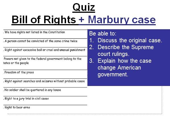 Chapter 3 Bill Of R Quiz American Government