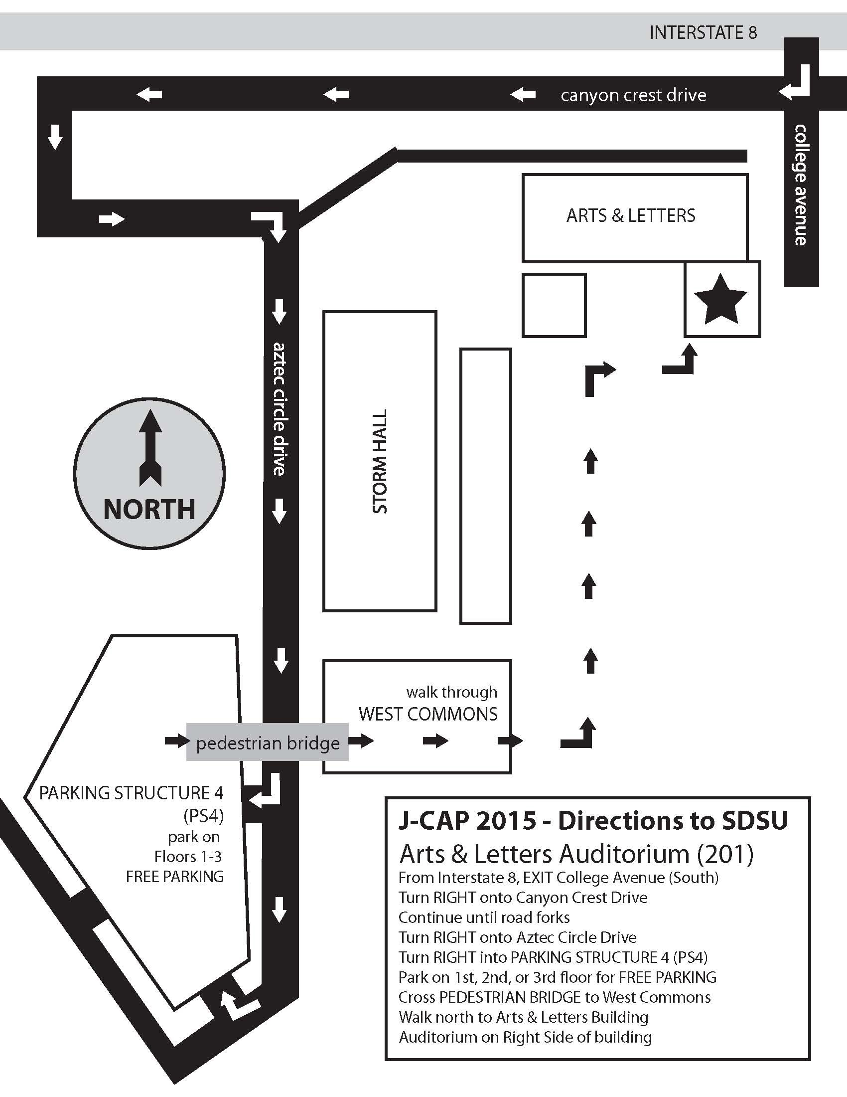 JCAP Competition held at SDSU. See Map