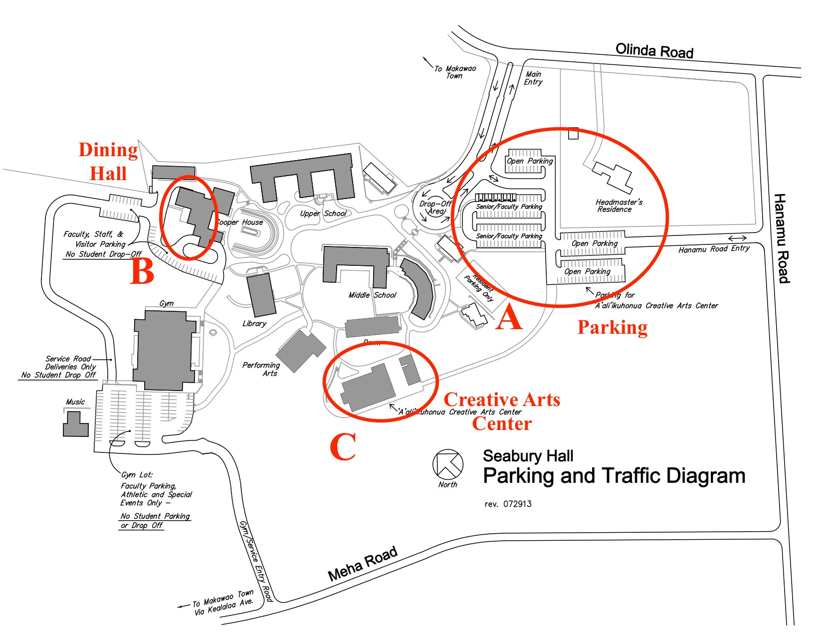 Maui Traffic Map.Campus Map Maui Math Challenge