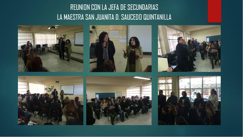 Reuni N Jefa De Secundarias Profesora Myrna Gonz Lez Rosas