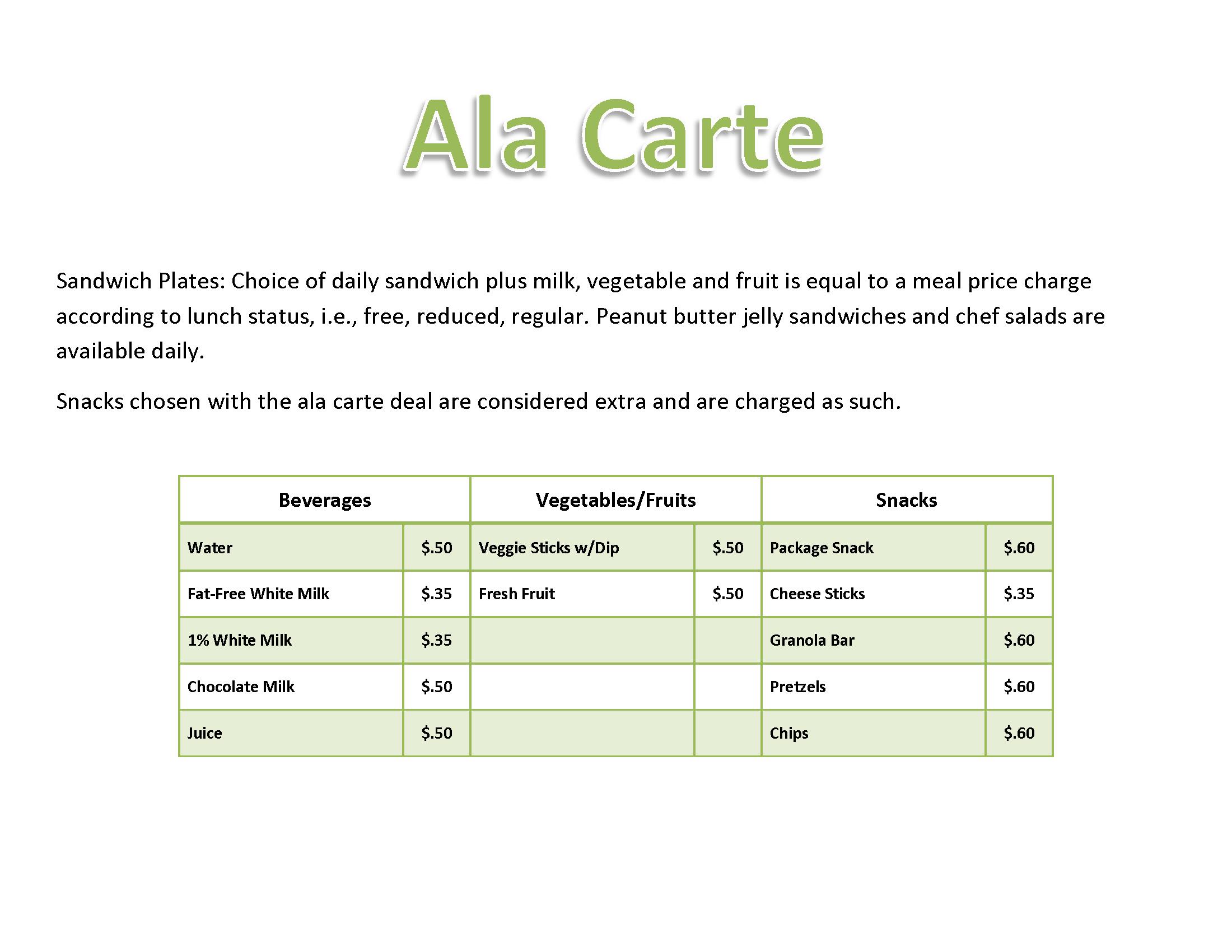 http://www2.sedomocha.org/DistrictInfo/alacartemenu.pdf