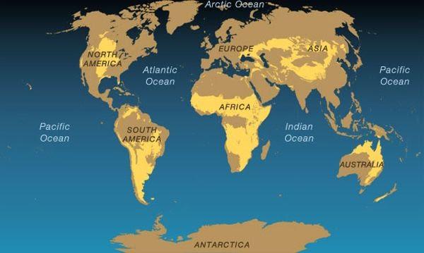 WORLD MAP.   THE SAVANNAH