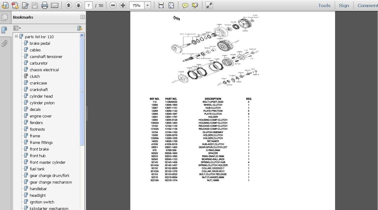 download parts list ksr 110 pdf parts manual ksr 110 pdf parts rh sites google com KSR Parts Kawasaki KSR Tyre