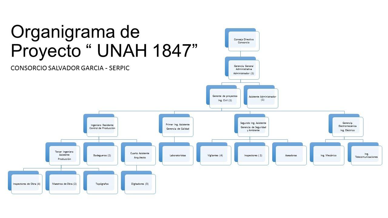 Organigrama construcci n edificio 1847 for Organigrama de una empresa constructora