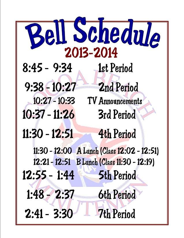 Bell schedules cocoa beach jr sr high school - Reasons always schedule regular home inspection ...