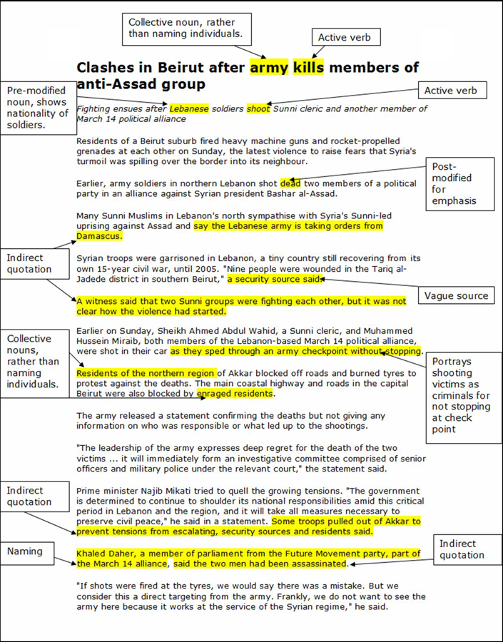 Newspaper Article Analysis Structure How To Structure An