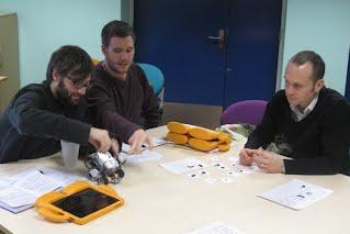 Using Lego robots
