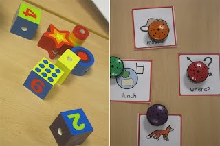 Sorting blocks and sequencing story parts