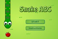 http://www.typinggames.zone/snakeabc