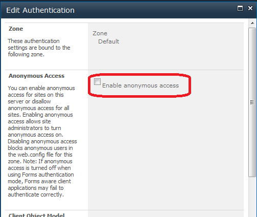 Web Application Anonymous Access
