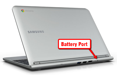 Samsung Chromebook Battery Port