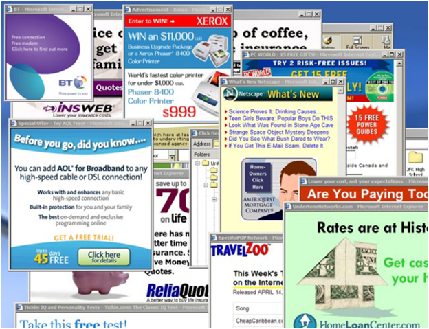 Pop-Up and Pop-Under Ads - Online Advertising vs  Traditional