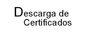 Descargue su Certificado