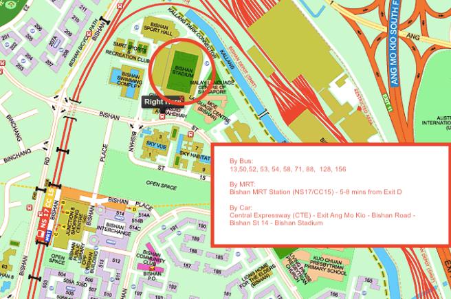Directions to Bishan Stadium