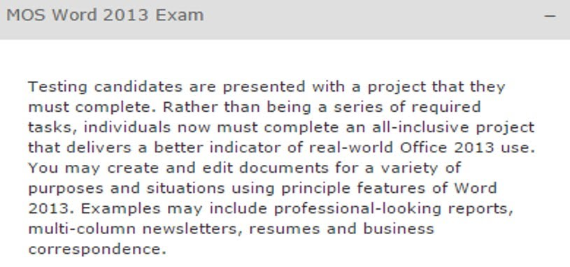 Mos Word 2013 Exam Business Ed Learning Environment