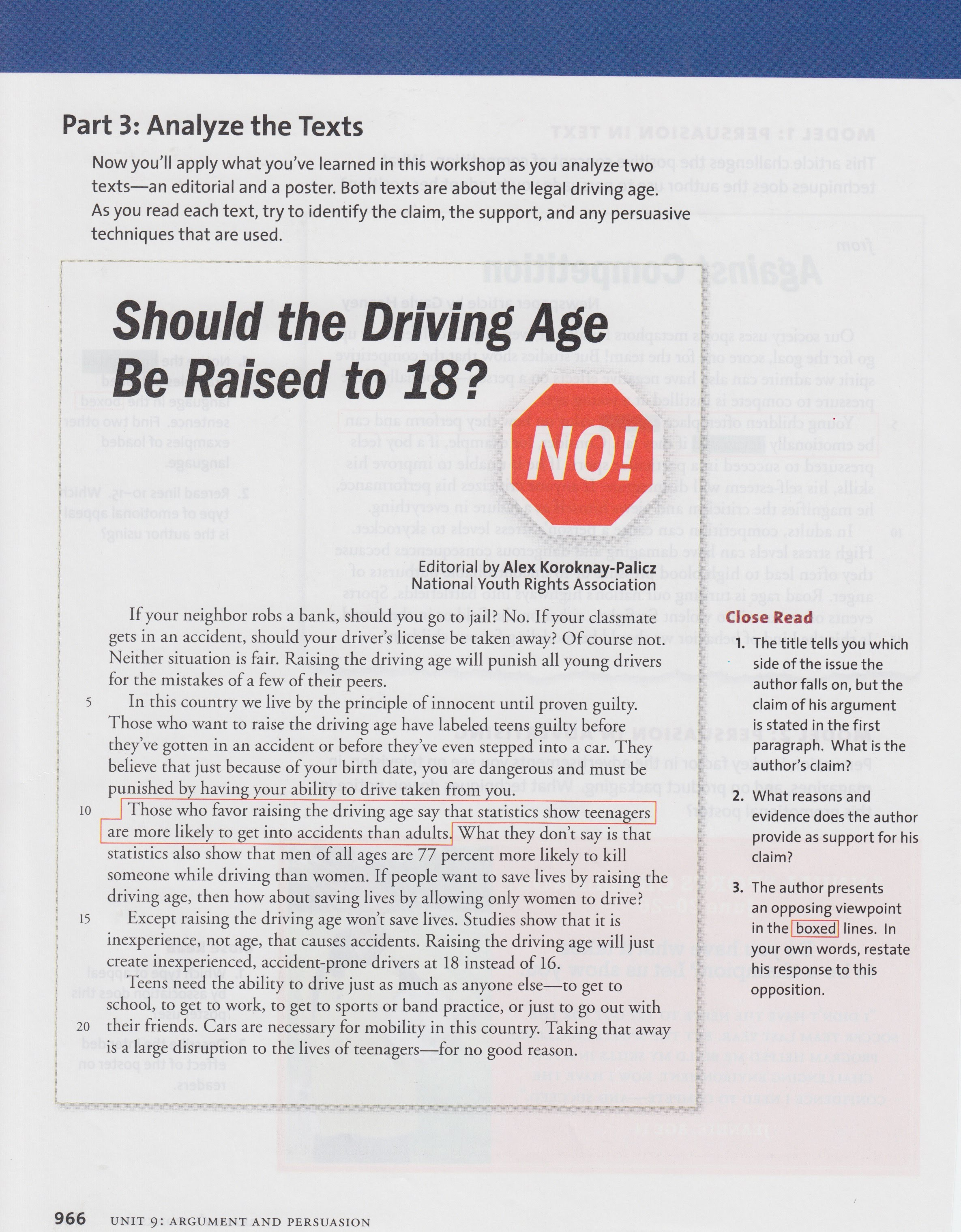 driving age should be raised Should the legal age for drivers be raised to should the legal driving age be raised if you raise the driving age to 18 many teenagers will have left.