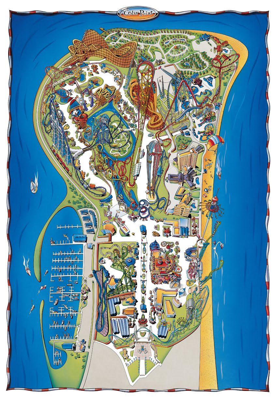 Cedar Point Park Map Park Map   Cedar Point Guide