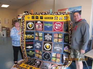 Robert Foster claims the Las Vegas Craft Beer Quilt
