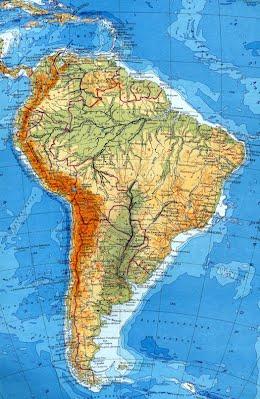 Южная Америка География материков и океанов Площадь Южной Америки составляет 18 млн км2 материк полностью расположен в Западном полушарии Материк Южной Америки вытягивается с севера на юг на около