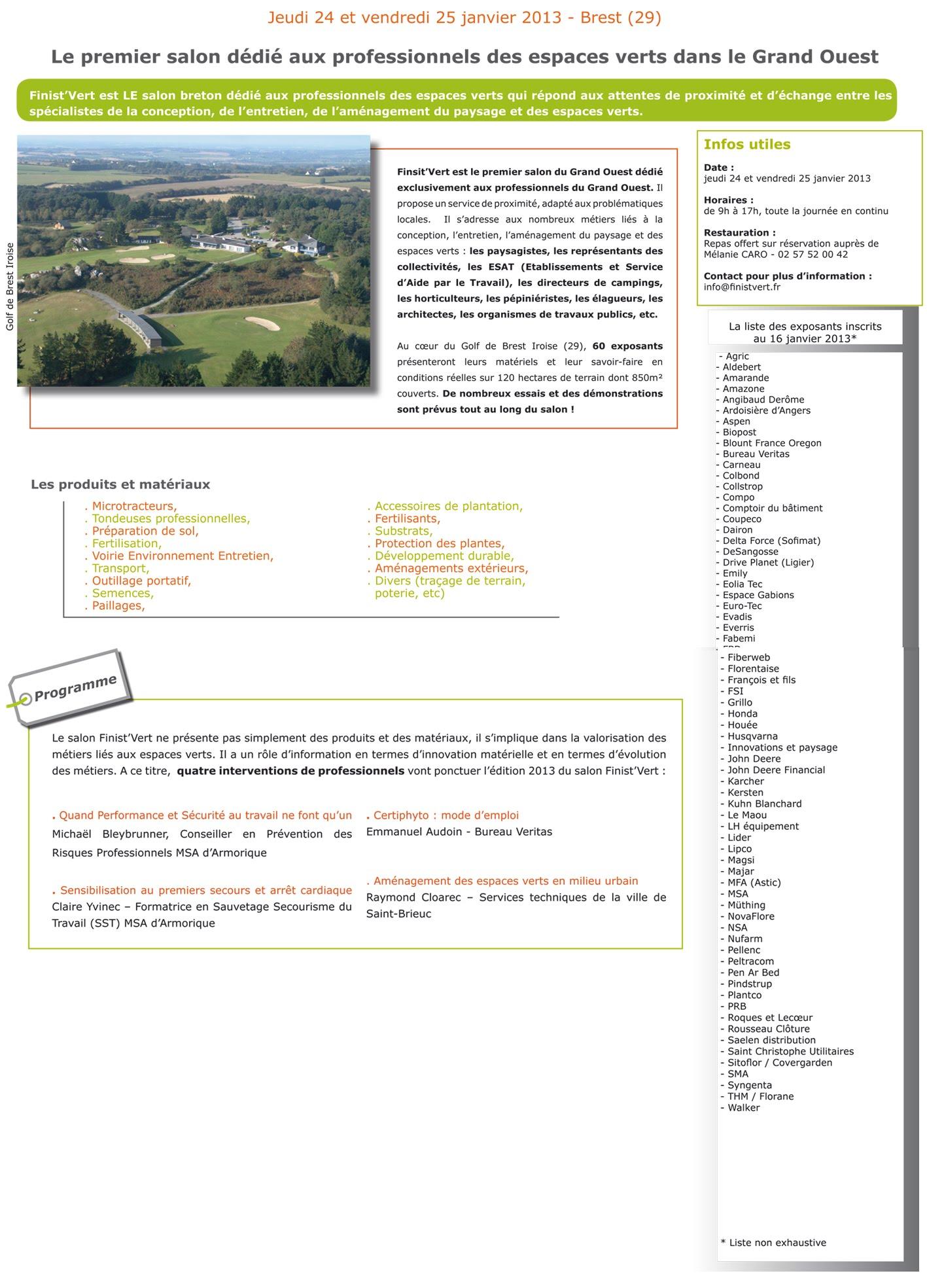 Finist 39 vert 2013 for Les espaces verts pdf