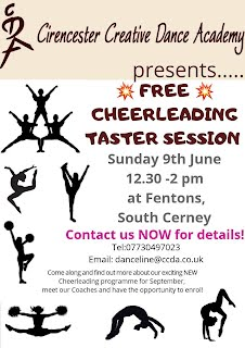 CCDA Cheer Leading for free taster poster