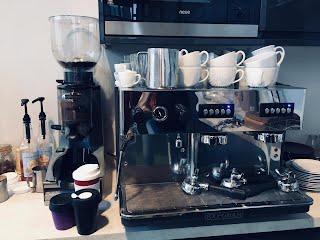 reusable cups on coffee machine