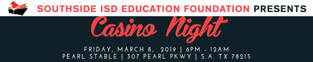 Join us for the 2nd Annual Casino Night Dinner and Dance Party  March 8. 2019. Click here for tickets.