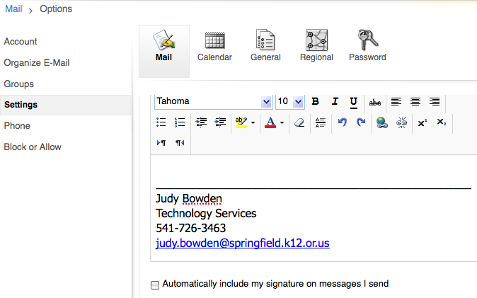 Email Signature - Outlook Web Access (OWA) Email Help