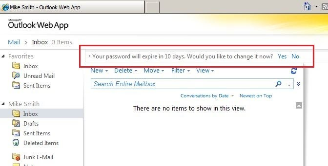 owa password does not meet minimum security requirements